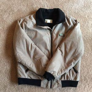 Men's Tan L.L. Bean Warm-up Jacket - Size L (GUC)